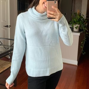 J.Crew Rolled Turtleneck blue M
